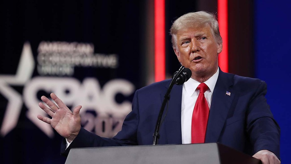 Donald Trump addresses the Conservative Political Action Conference