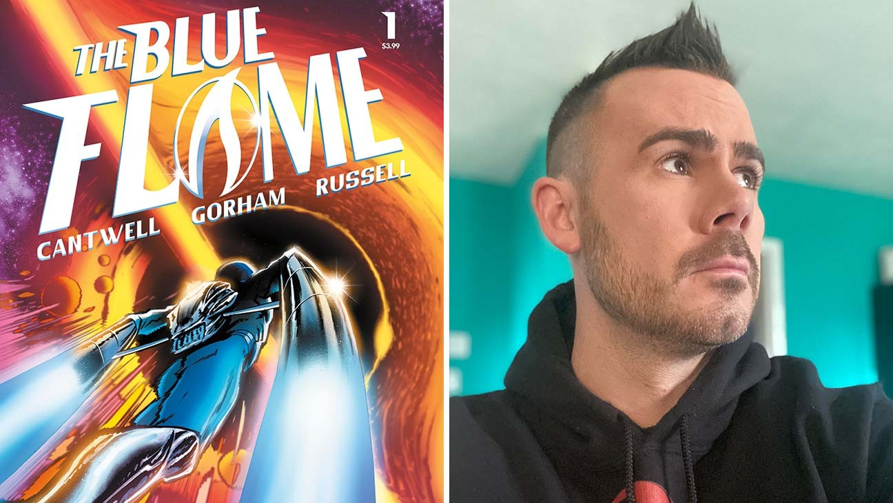 'Halt and Catch Fire' Co-Creator Teams with Vault Comics for Cosmic Hero 'The Blue Flame' (Exclusive)