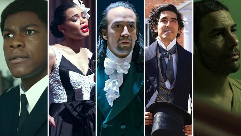John Boyega (Small Axe), Andra Day (Billie Holliday), Lin-Manuel Miranda (Hamilton), Dev Patel (David Copperfield), Tahar Rahim (The Mauritanian)