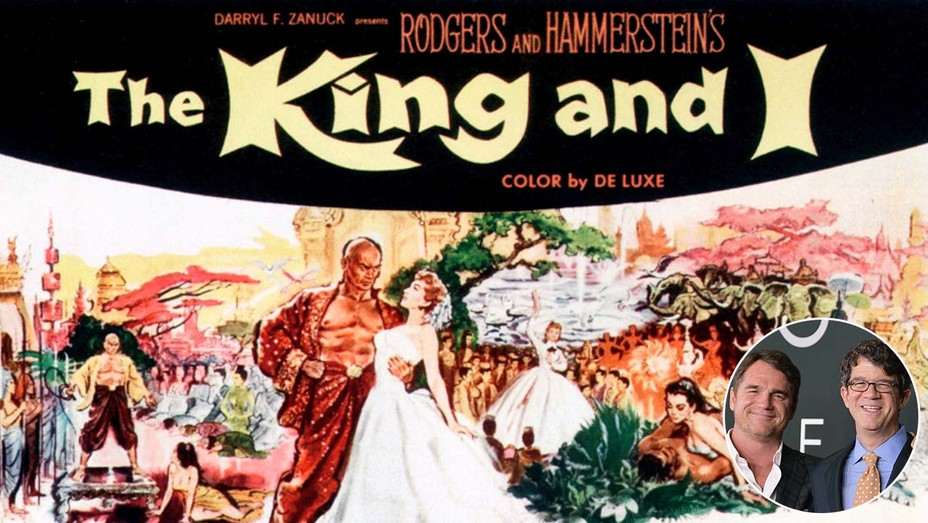 King & I poster and inset of Marty Bowen and Wyck Godfrey