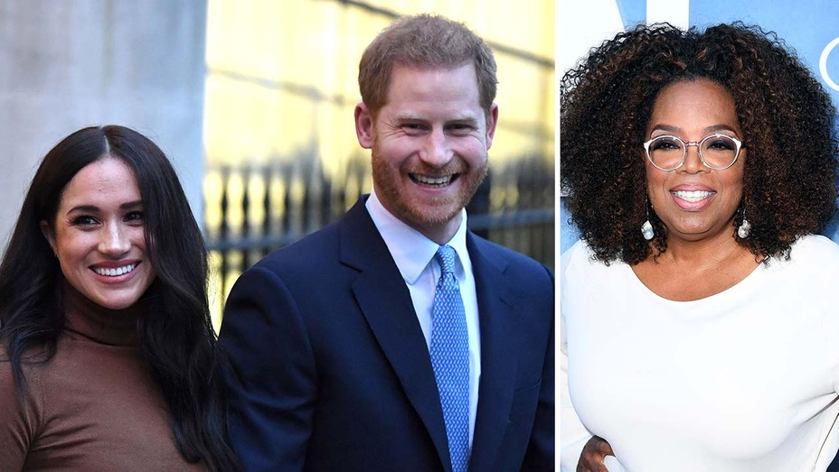 Prince Harry and Meghan Markle, and Oprah Winfrey