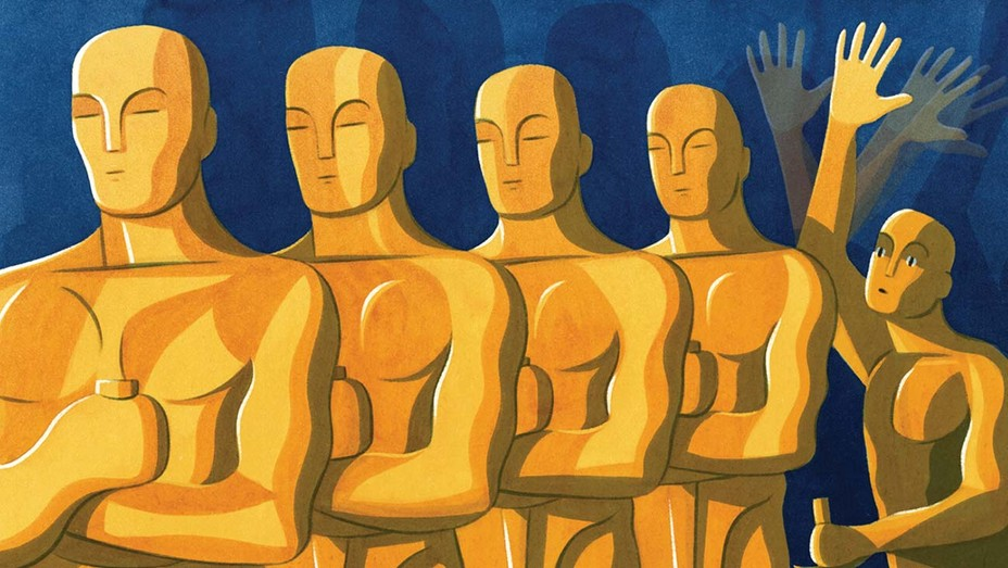Will the 93rd Oscars Come With an Asterisk? Illustration by Eleni Kalorkoti