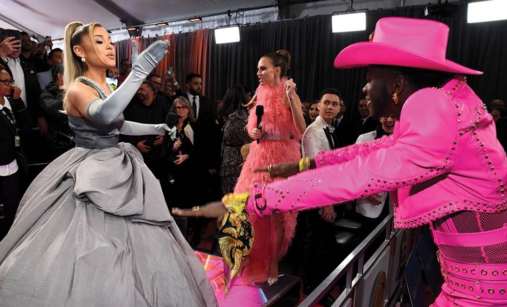 Ariana Grande and Lil Nas X all passed within 6 feet of unmasked masses on the 2020 Grammy red carpet.