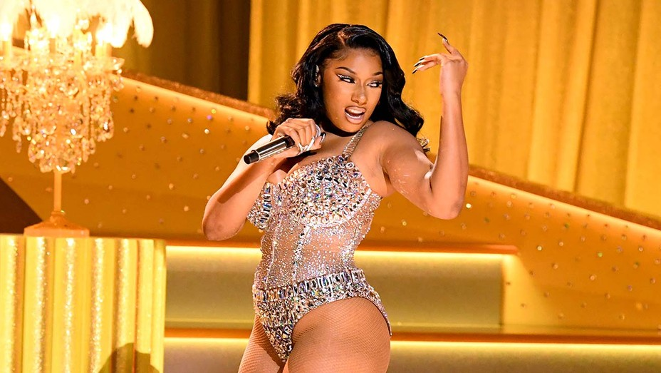 Megan Thee Stallion Performs TK_Song At The 2021 Grammys   Hollywood  Reporter
