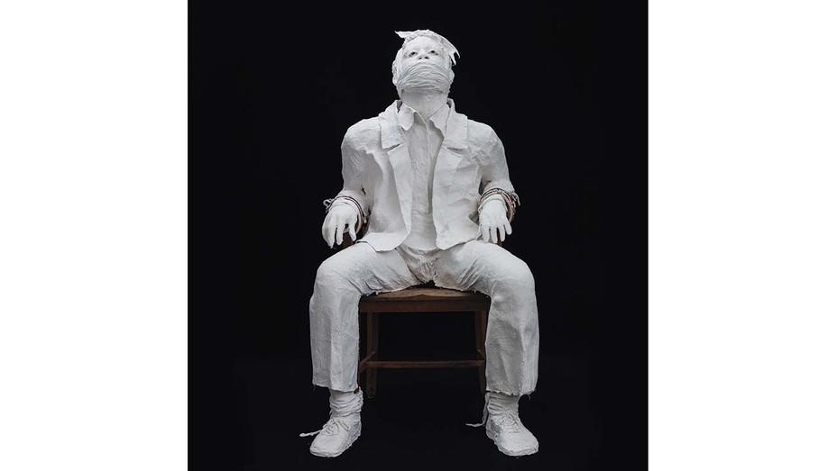 Karon Davis' sculpture of Bobby Seale.