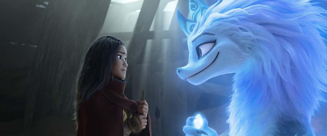 Raya seeks the help of the legendary dragon, Sisu.