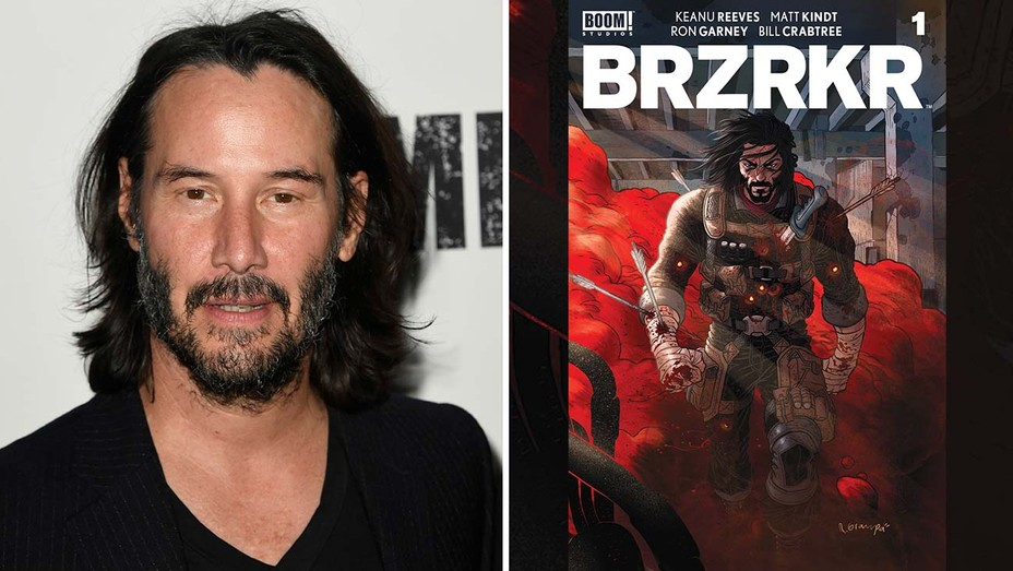keanu reeves and BRZRKR Book Cover 1