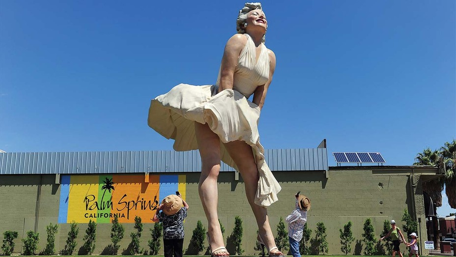 statue of actress Marilyn Monroe in Palm Springs