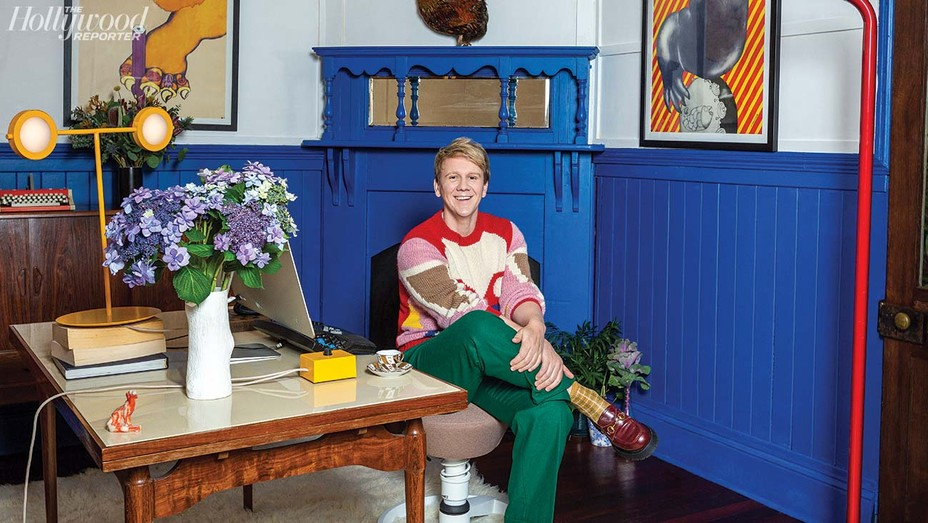 Josh Thomas was photographed April 2 in his home office in Melbourne, Australia.