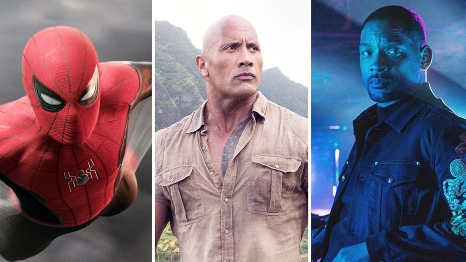 Spider-man far From Home, Jumanji, and Bad Boys