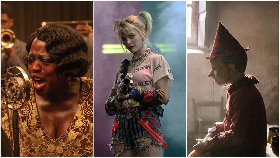 Viola Davis in 'Ma Rainey's Black Bottom,' Margot Robbie in 'Birds of Prey' and Pinocchio in 'Pinocchio'